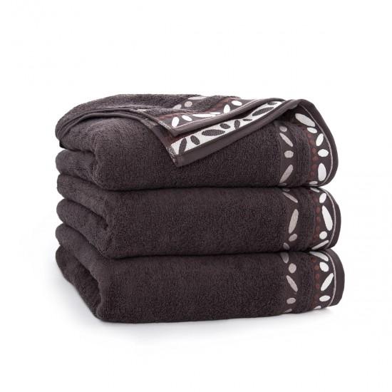 Ręcznik bawełniany brązowy Arabica Gorzka Czekolada