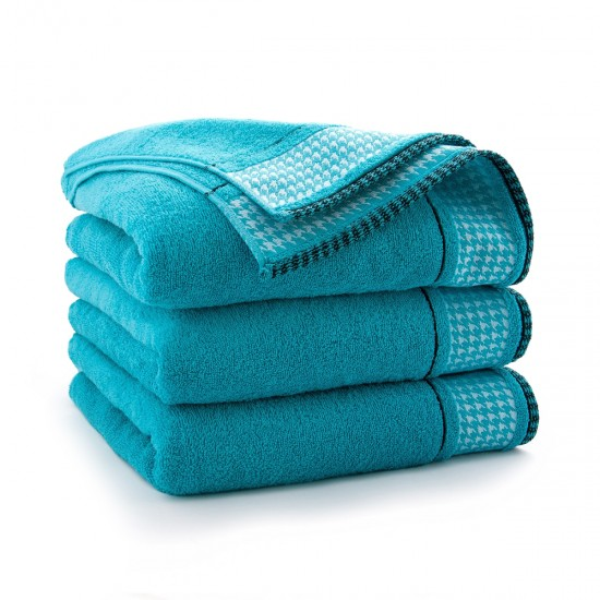 Ręcznik bawełniany niebieski Koko Turkus