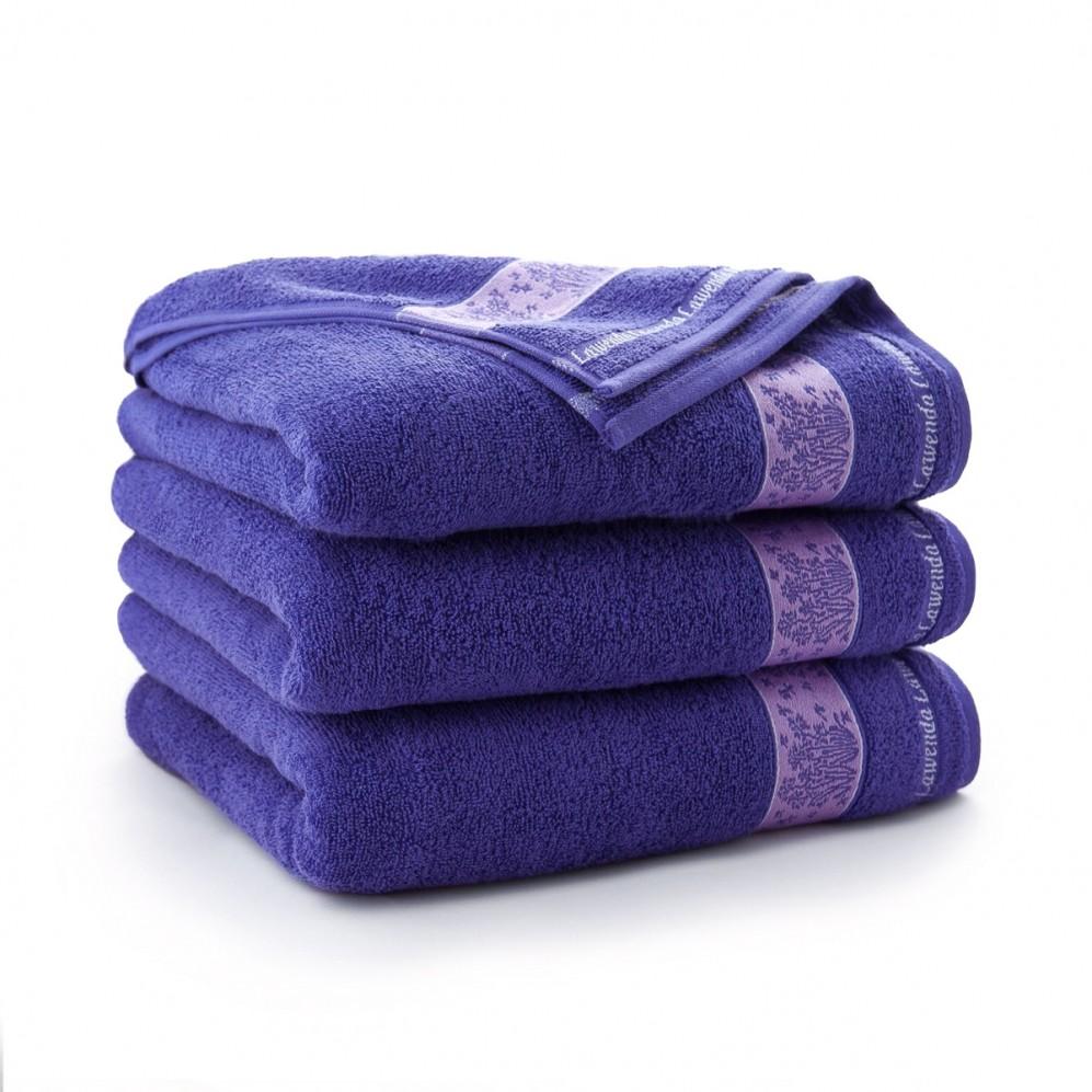 Ręcznik bawełniany fioletowy Lawenda