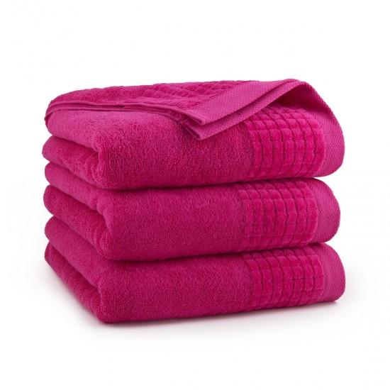 Ręcznik welurowy beżowy Paulo 2 Fuksja
