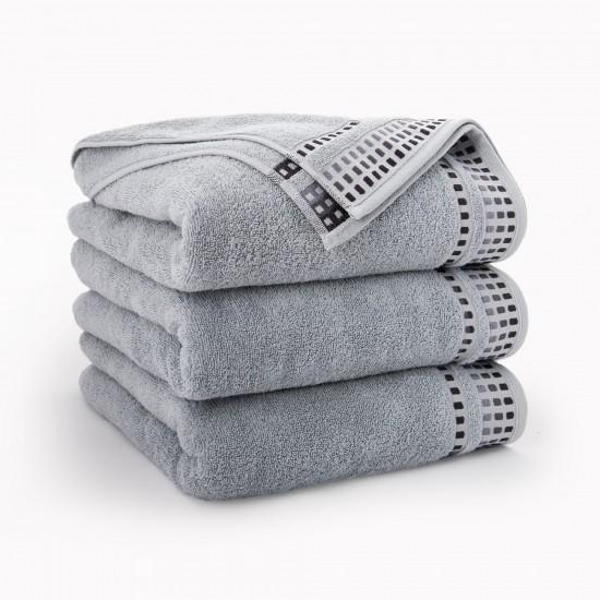 Ręcznik bawełniany szary Wena Jasny Grafit