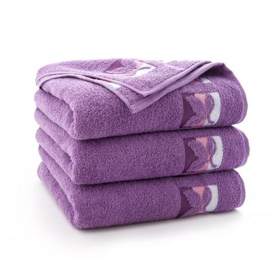Ręcznik bawełniany fioletowy Fraza 9 Fiołkowy