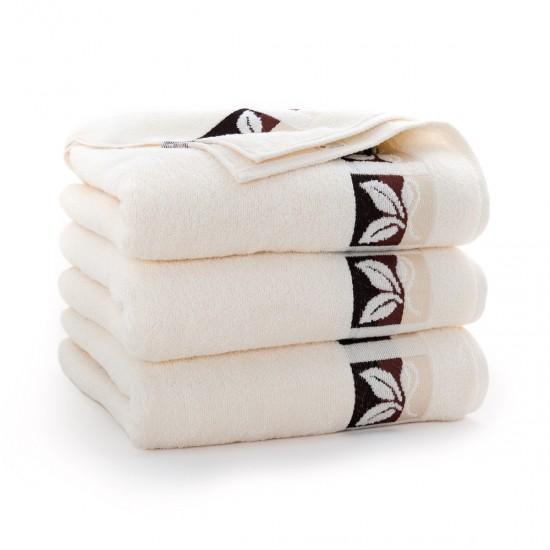 Ręcznik bawełniany beżowy Fraza 9 Ecru