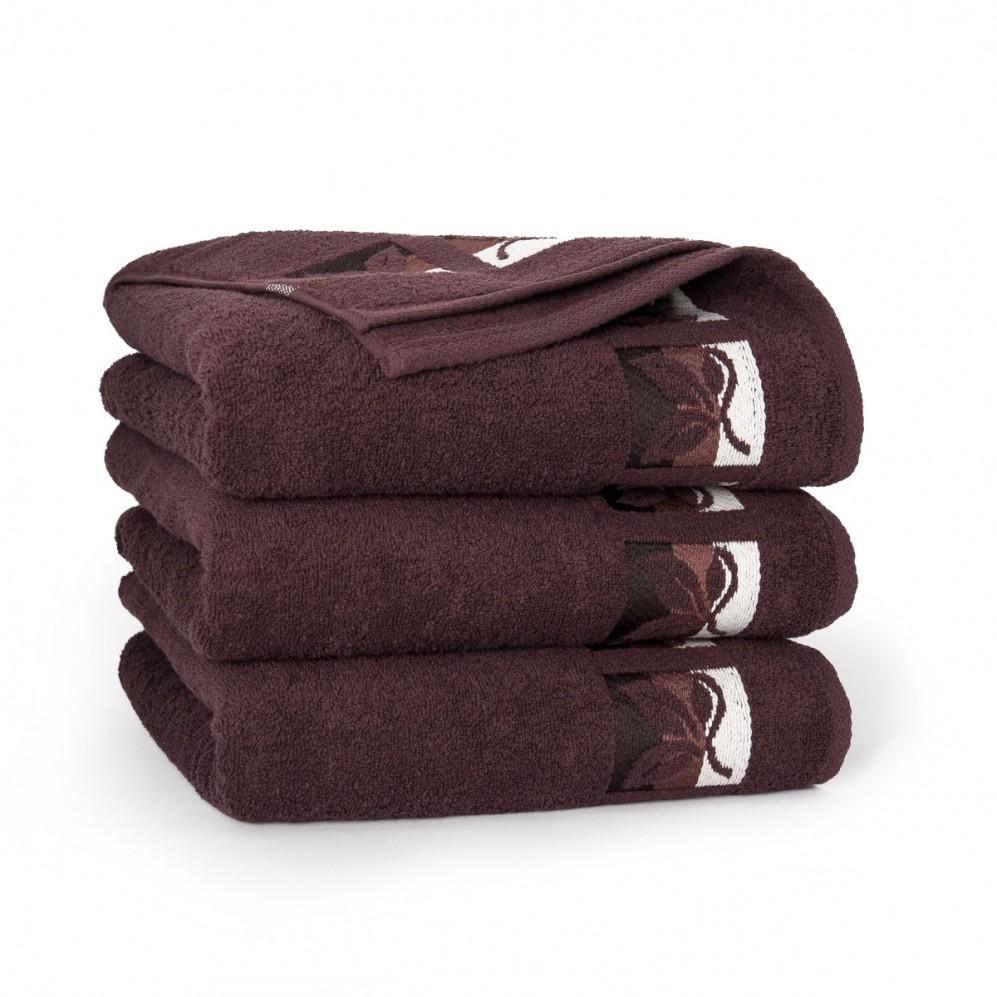 Ręcznik bawełniany Fraza 9 Brąz