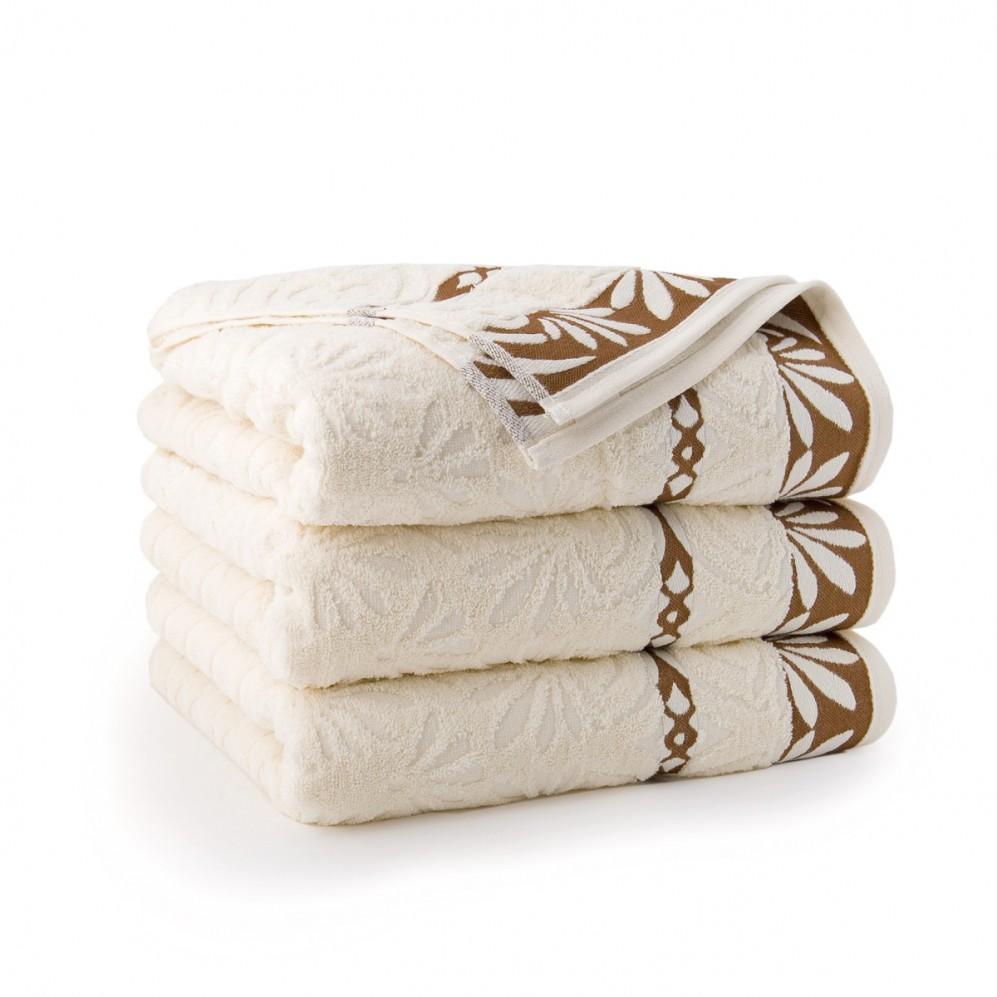 Ręcznik bawełniany beżowy Imbir Ecru