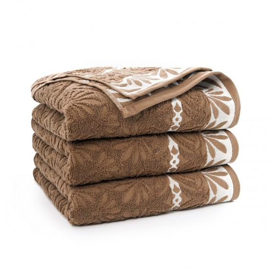 Ręcznik bawełniany brązowy Imbir Migdałowy