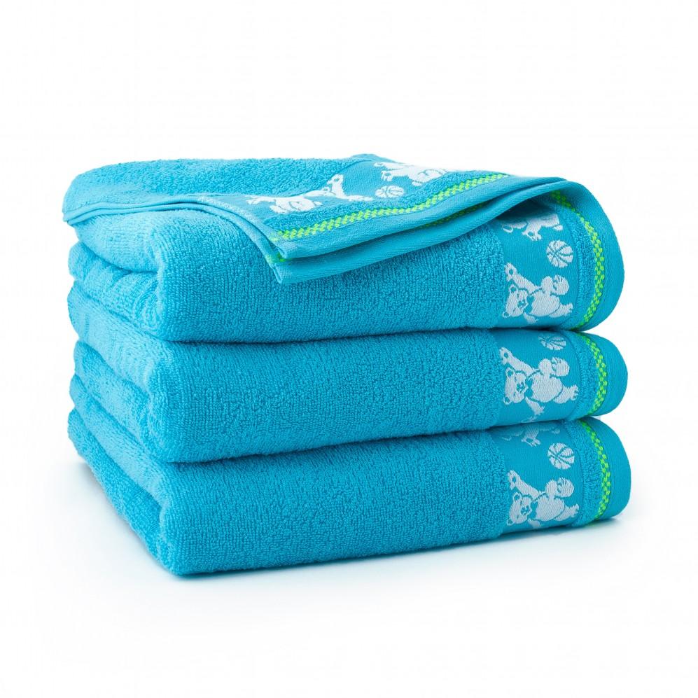 Ręcznik dla dzieci niebieski Balu Cyjan