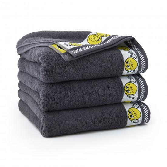 Ręcznik dla dzieci Emotikony Grafit