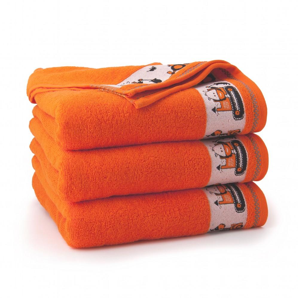 Ręcznik dla dzieci Koparozaury Marchewkowy