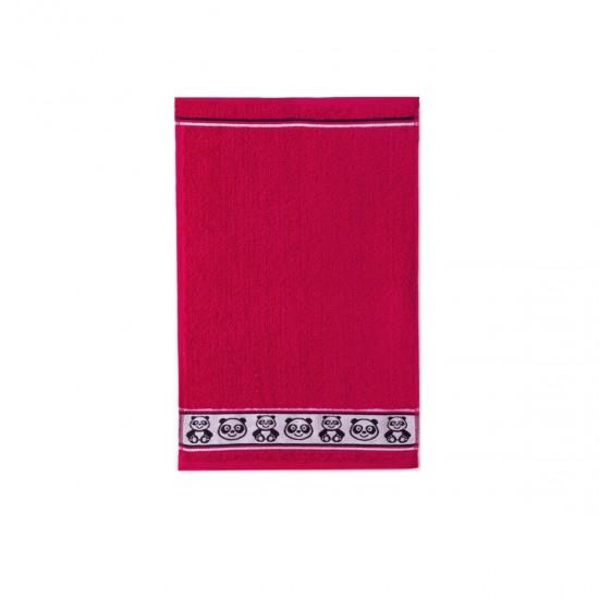 Ręcznik dla dzieci Panda Czerwony