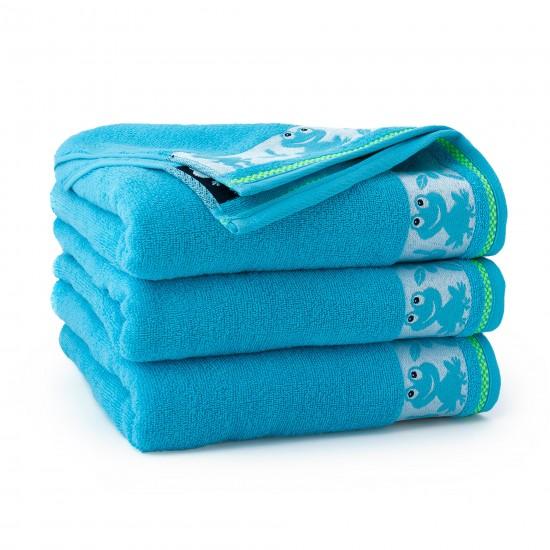Ręcznik dla dzieci niebieski Żabka