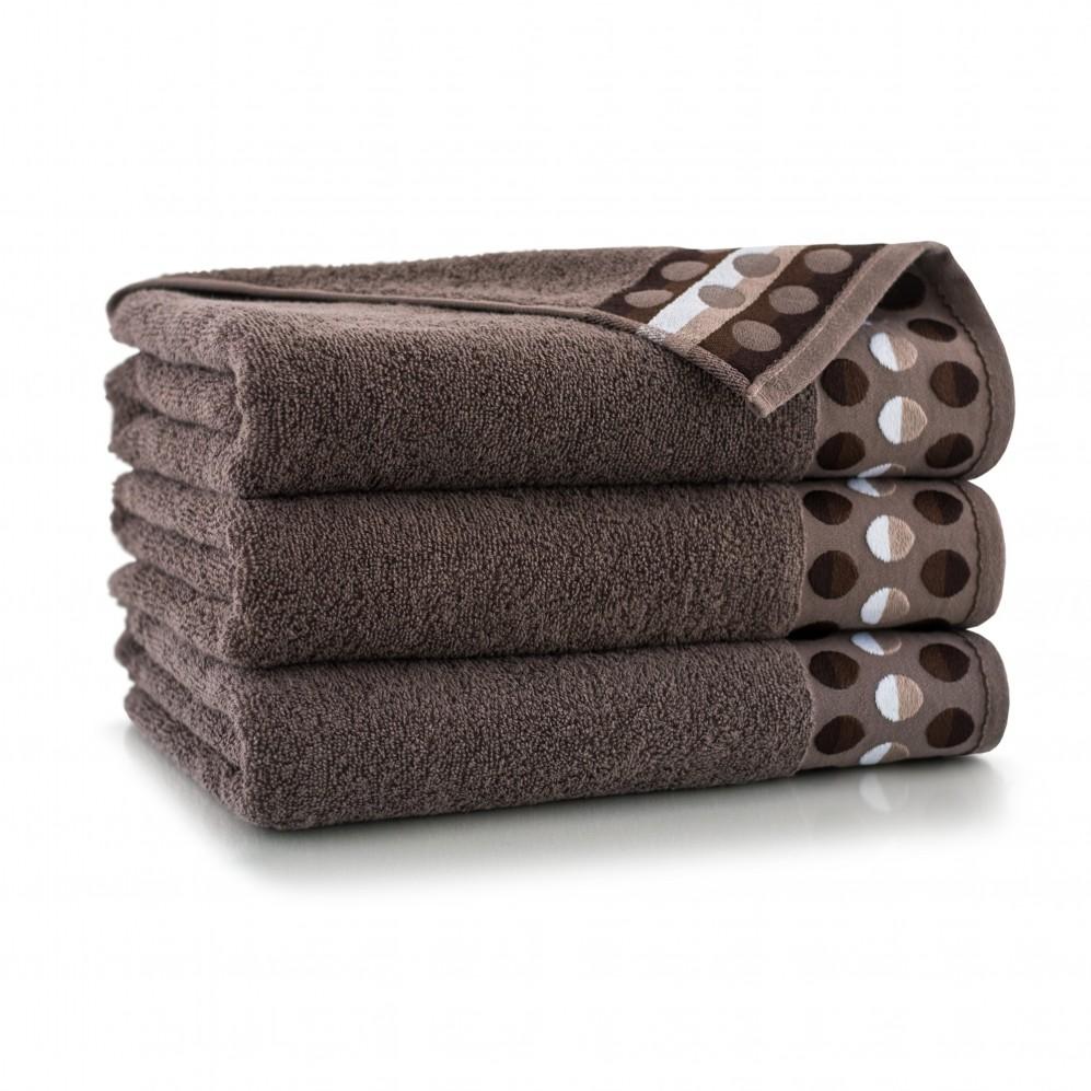Ręcznik bawełniany brązowy Zen Taupe