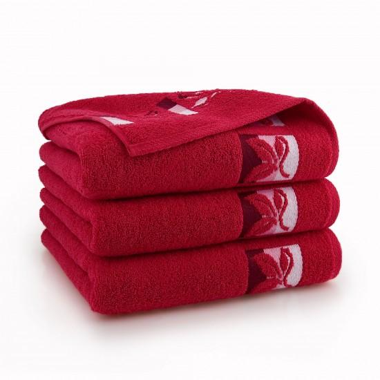 Ręcznik bawełniany Fraza 9 Czerwony
