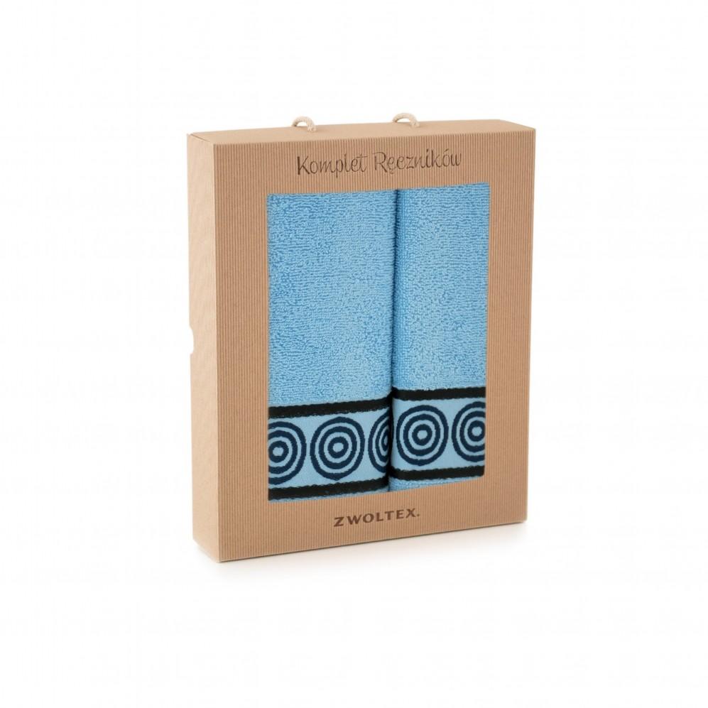 Komplet ręczników Rondo Błękit