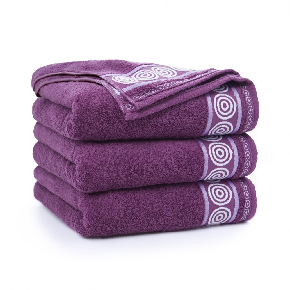 Ręcznik bawełniany Rondo Śliwkowy