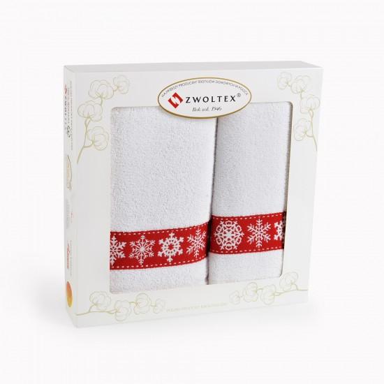 Komplet ręczników bawełnianych Śnieżka Biały