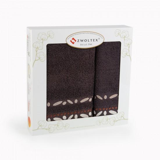 Komplet ręczników bawełnianych Arabica Gorzka Czekolada