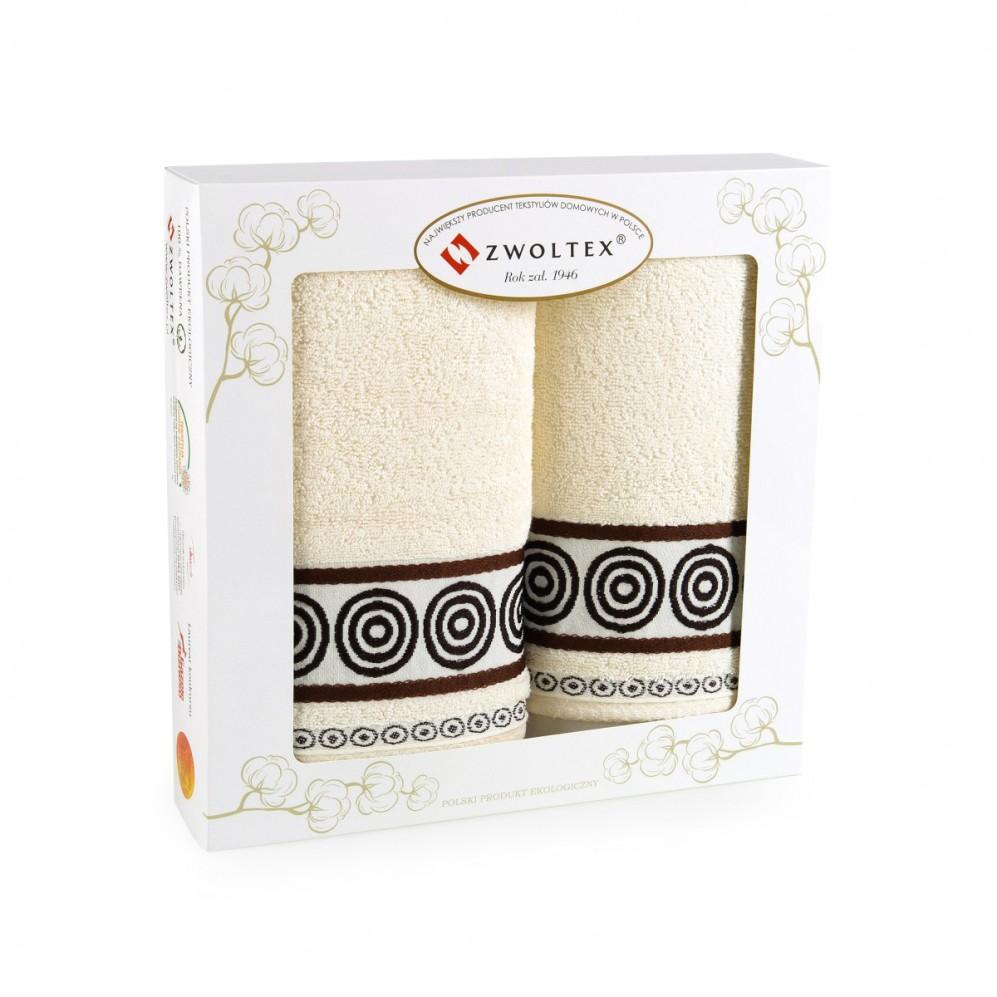Komplet ręczników bawełnianych Rondo Ecru