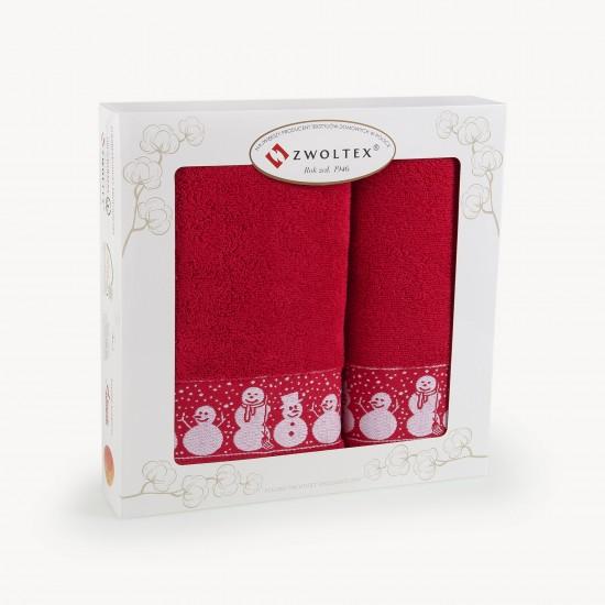 Komplet ręczników bawełnianych Olaf Czerwony