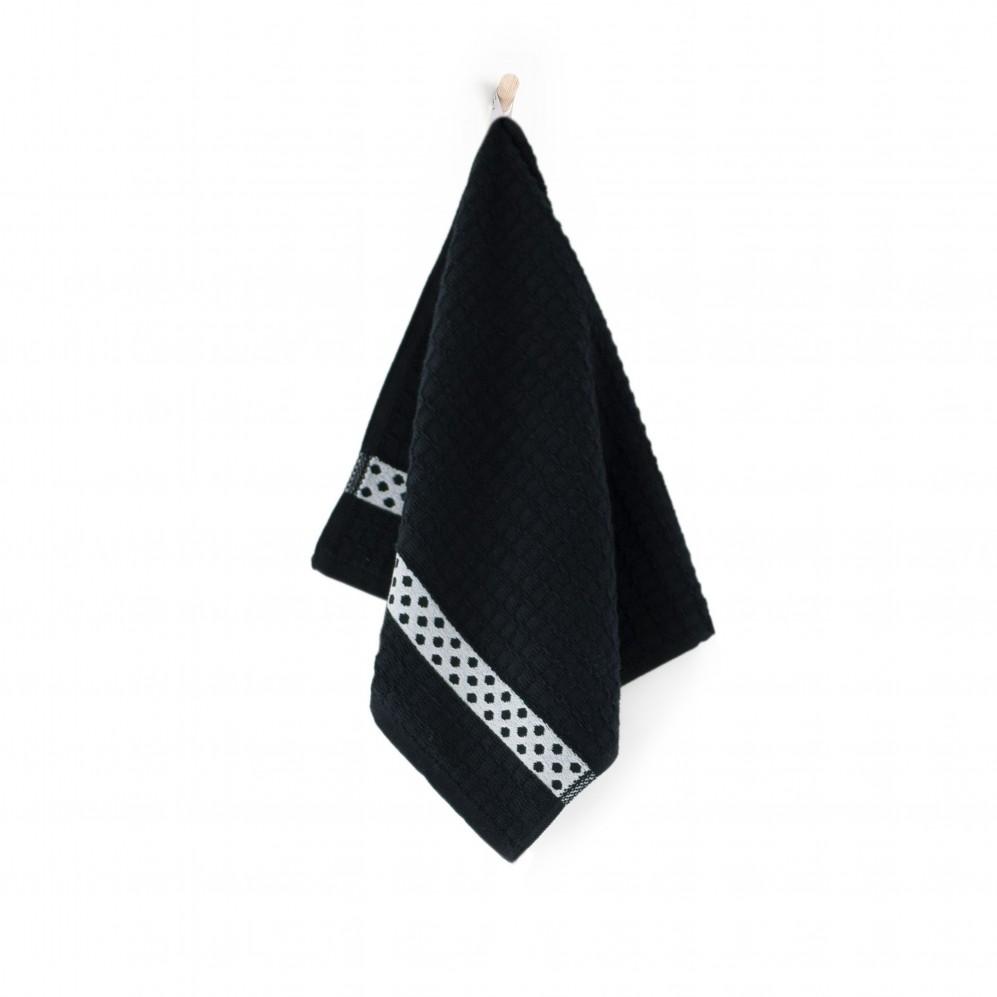 Ręcznik kuchenny Kropki Czarny