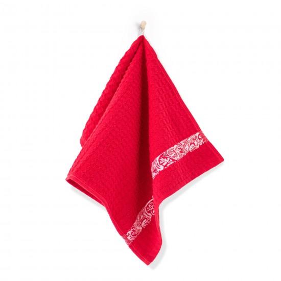 Ręcznik kuchenny Ornament Czerwony