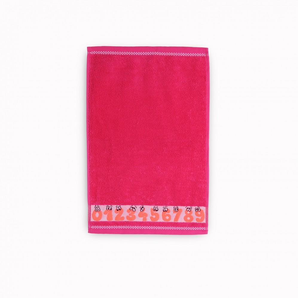 Ręcznik dla dzieci Cyferki Fuksja