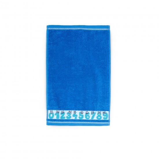 Ręcznik dla dzieci Cyferki Błękit Francuski