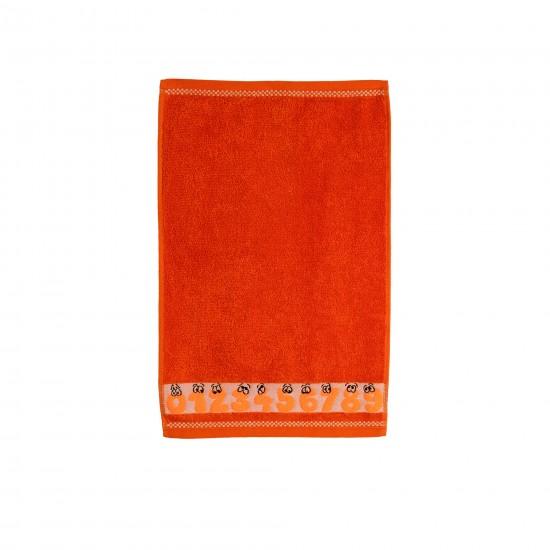 Ręcznik dla dzieci Cyferki Oranż