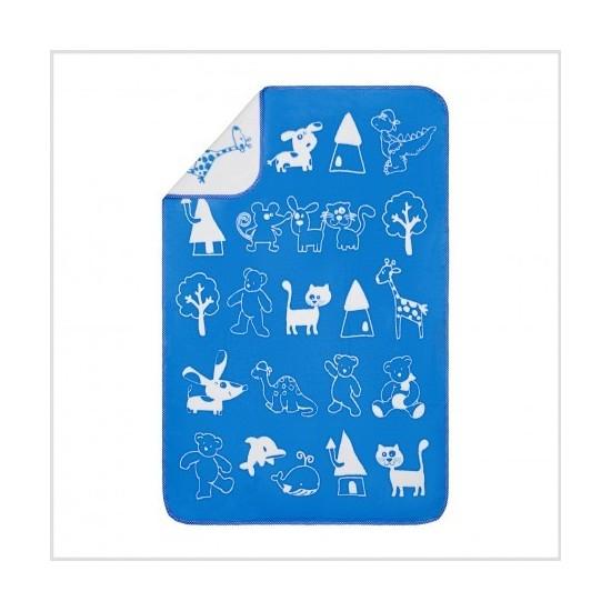 Kocyk dla dziecka Miś 2 Niebieski