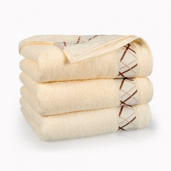 Ręcznik bawełniany Fokus Ecru
