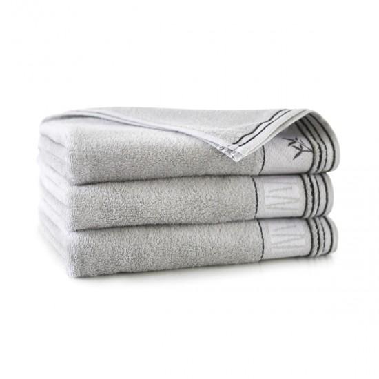 Ręcznik bambusowy frotte szary Satin Bazalt