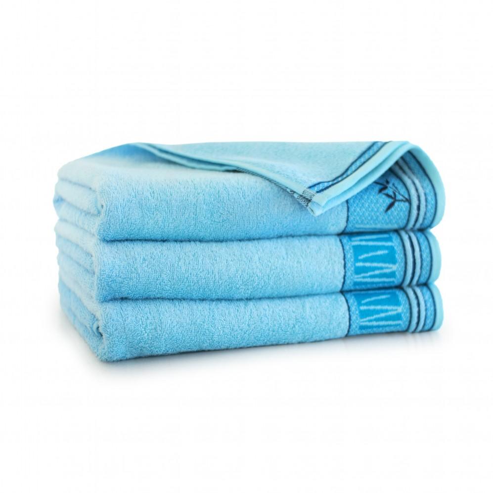 Ręcznik bambusowy frotte Satin Jasny Cyjan