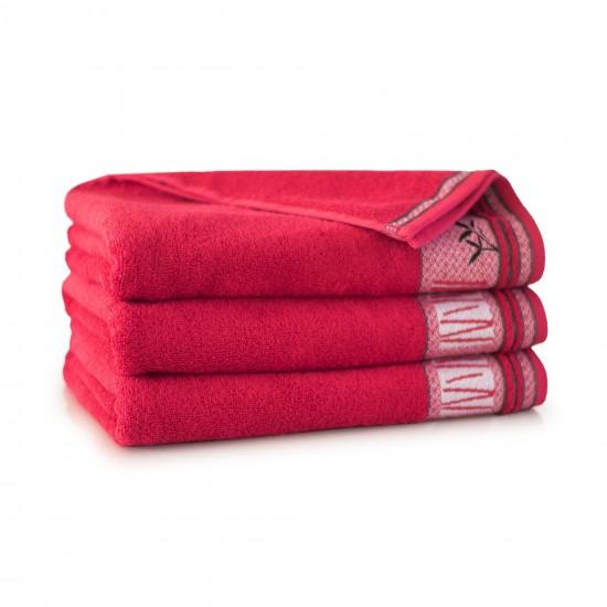 Ręcznik bambusowy frotte Satin Czerwony