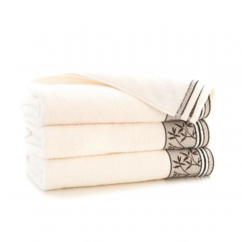 Ręcznik bambusowy frotte Satin Ecru