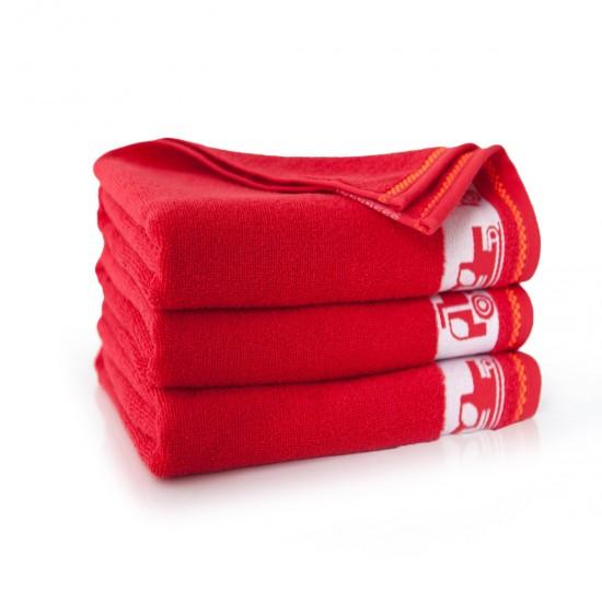 Ręcznik dla dzieci czerwony Autoboty Makowy