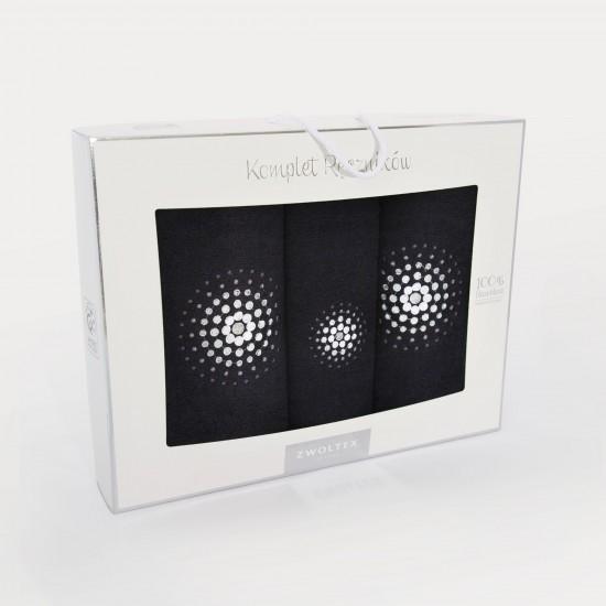 Komplet ręczników bawełnianych Iluzja Czarny