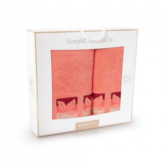 Komplet ręczników bawełnianych różowy Fraza 9 Koral