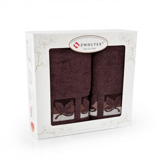 Komplet ręczników bawełnianych Fraza 9 Brąz