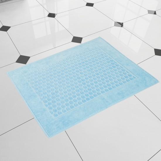 Dywanik łazienkowy welurowy niebieski Stella Błękit