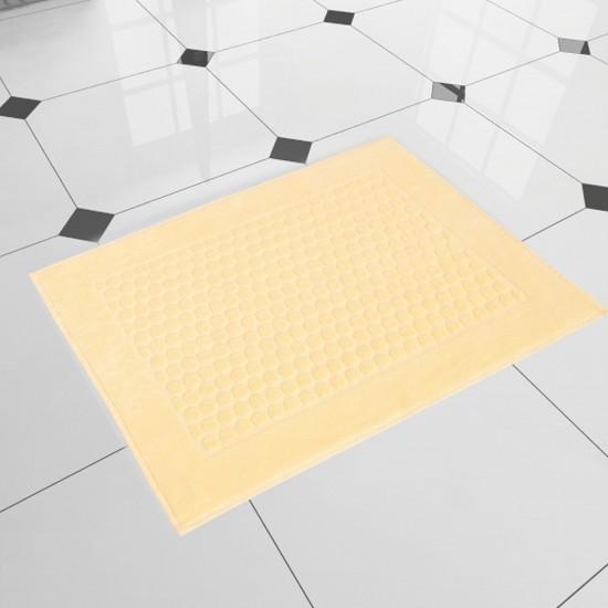 Dywanik łazienkowy welurowy żółty Stella Ajerkoniak