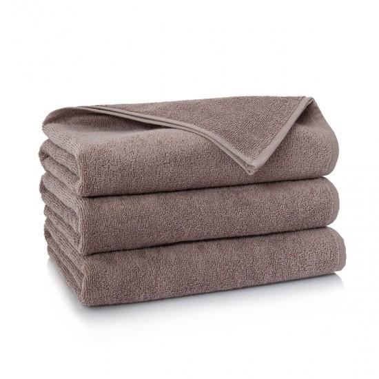 Ręcznik bawełniany brązowy Liczi Cynamonowy