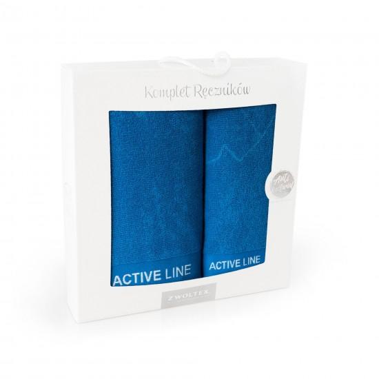 Komplet ręczników bawełnianych niebieski Active AG