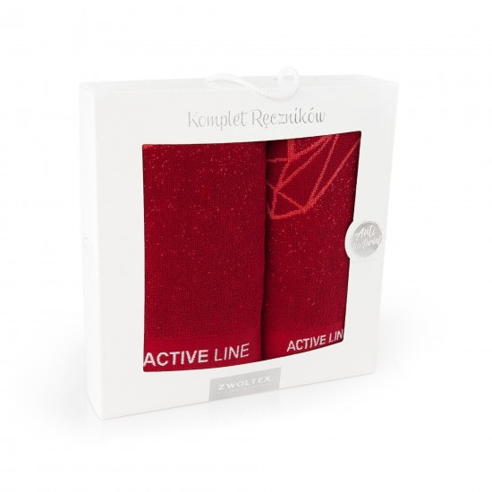 Komplet ręczników bawełnianych czerwony Active AG