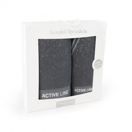 Komplet ręczników bawełnianych grafitowy Active AG