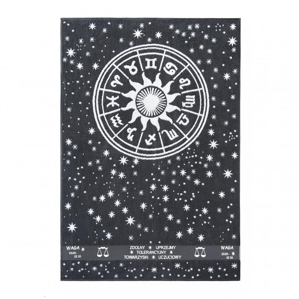 Ręcznik plażowy Zodiak 5 Grafitowy Waga