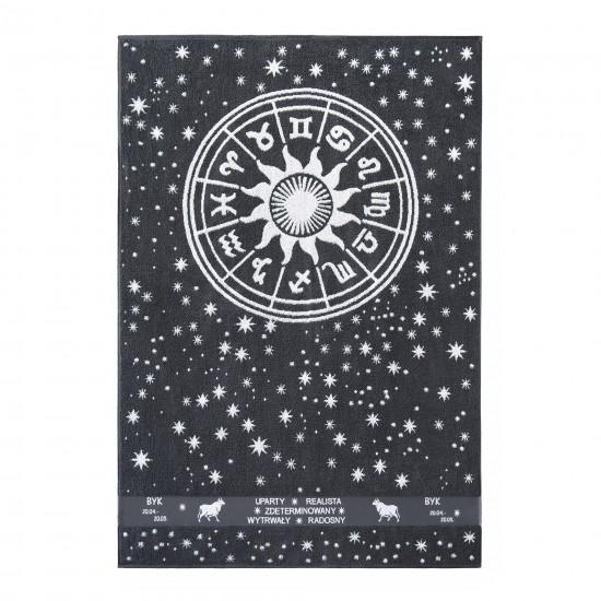 Ręcznik plażowy Zodiak 5 Grafitowy Byk