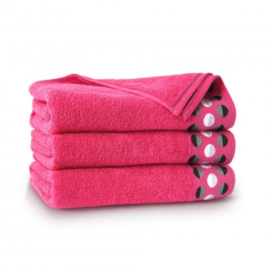 Ręcznik bawełniany różowy Zen Fuksja