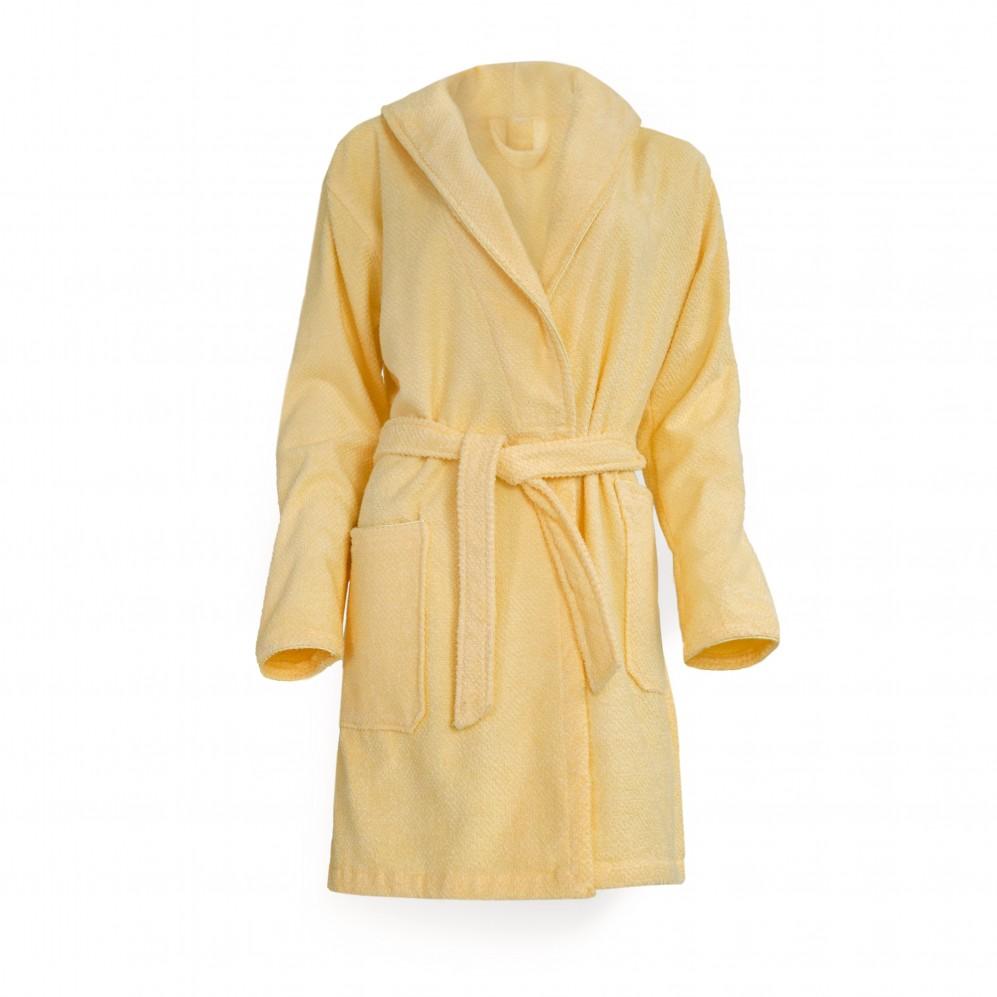 Szlafrok bawełniany żółty Hestia Słomkowy
