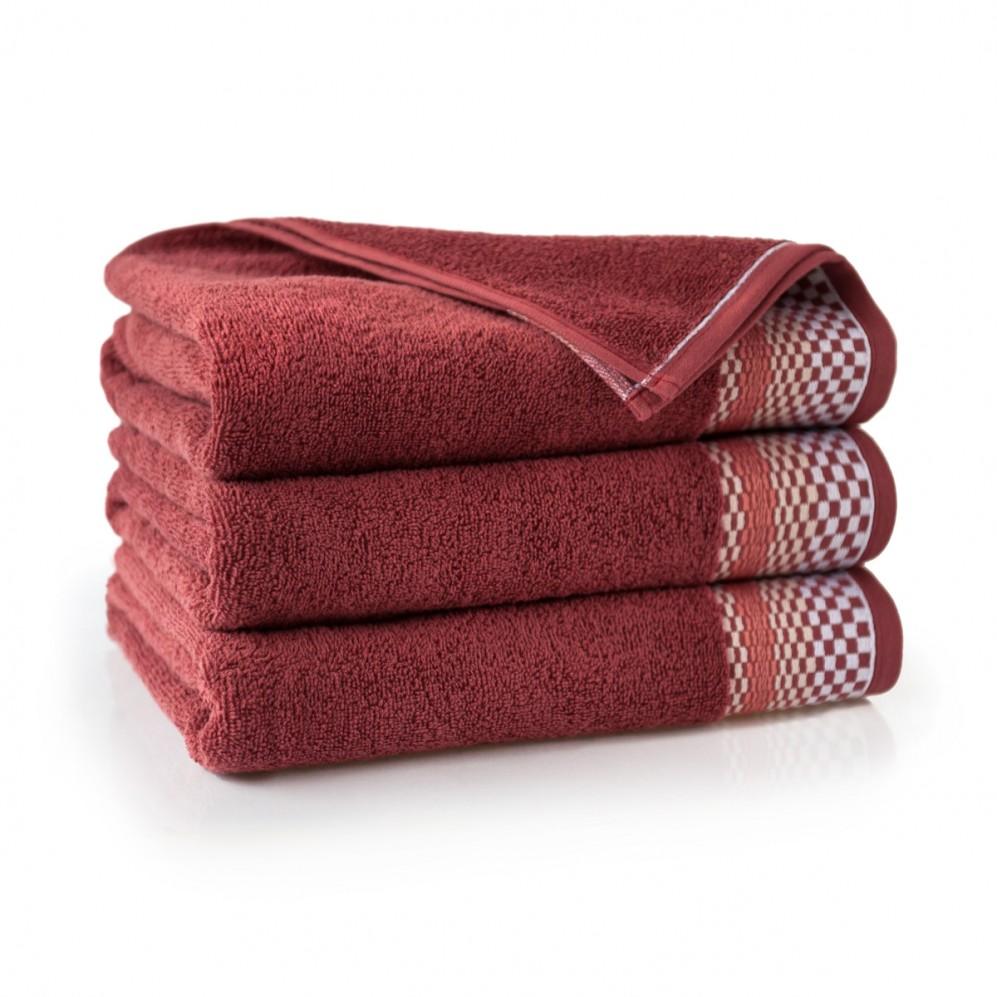 Ręcznik bawełniany pomarańczowy Fantom Cedrowy