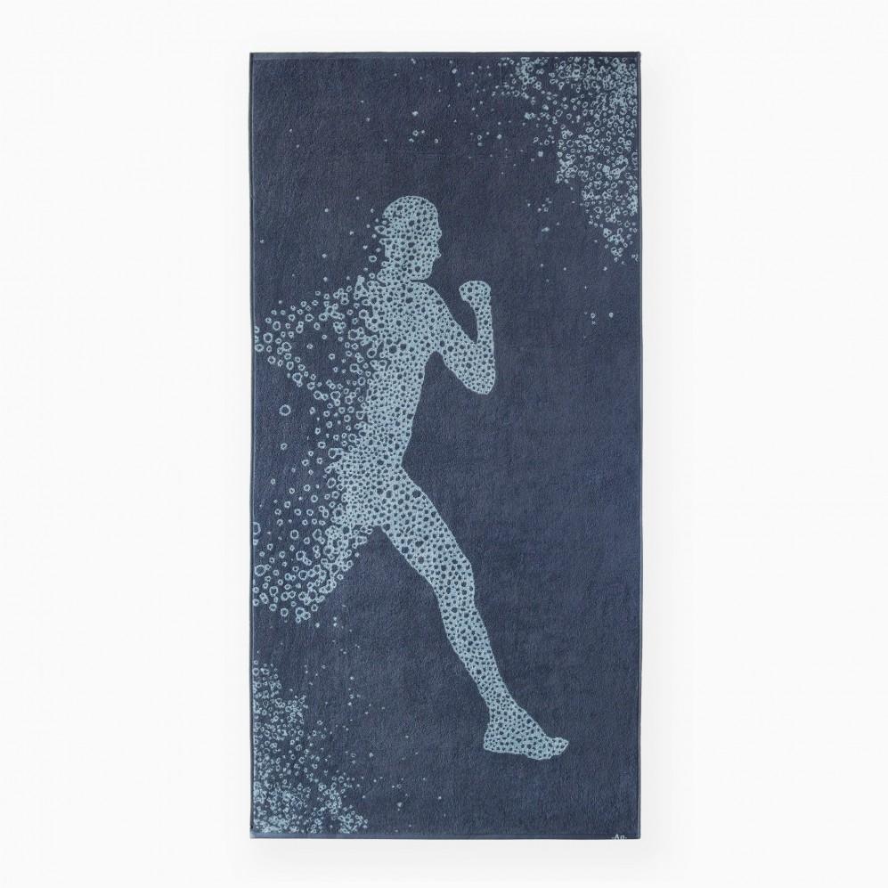 Ręcznik bawełniany niebieski Bieg 1 AG